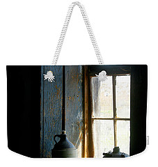 Weekender Tote Bag featuring the photograph Shades Of Blue by Vicki Pelham