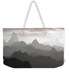 Weekender Tote Bag featuring the digital art Shades Of Gray by Phil Perkins