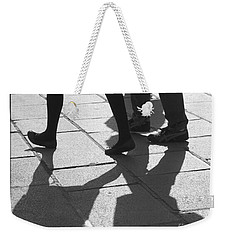 Weekender Tote Bag featuring the photograph Shadow People by Victoria Harrington