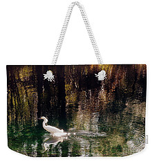 Weekender Tote Bag featuring the photograph Shadowwaters by Lydia Holly