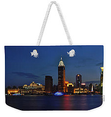 Shanghai Bund Panorama - Night Weekender Tote Bag
