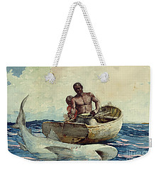 Shark Fishing Weekender Tote Bag by Winslow Homer
