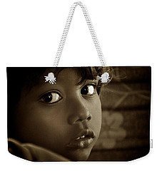 She Just Stared Weekender Tote Bag by Valerie Rosen