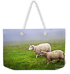 Sheep In Misty Meadow Weekender Tote Bag