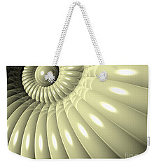 Weekender Tote Bag featuring the digital art Shell Of Repetition by Phil Perkins
