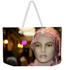 Shopping Girl Weekender Tote Bag