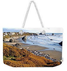 Weekender Tote Bag featuring the photograph Shores Of Oregon by Will Borden