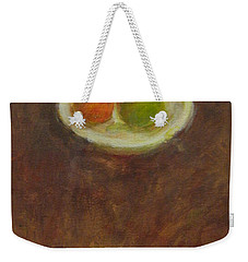 Weekender Tote Bag featuring the painting Side By Side by Kathleen Grace