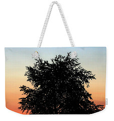 Make People Happy  Square Photograph Of Tree Silhouette Against A Colorful Summer Sky Weekender Tote Bag
