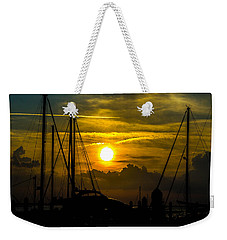 Silhouettes At The Marina Weekender Tote Bag