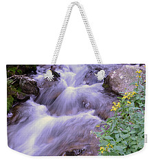 Weekender Tote Bag featuring the photograph Silky Stream by Zawhaus Photography