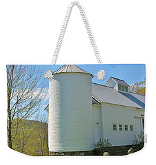 Weekender Tote Bag featuring the photograph Vermont Silo And Barn  by Sherman Perry
