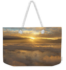 Silver Lake Sunrise Weekender Tote Bag