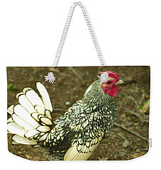 Silver Seabright Rooster Weekender Tote Bag