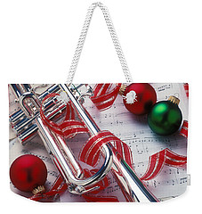 Silver Trumper And Christmas Ornaments Weekender Tote Bag by Garry Gay