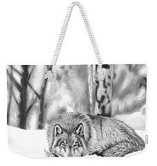 Sleeping In The Snow Weekender Tote Bag