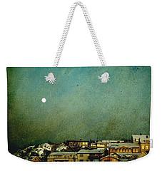 Sleepy Winter Town Weekender Tote Bag