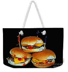 Weekender Tote Bag featuring the photograph Sliders by Cindy Manero