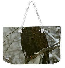 Snow Eagle Weekender Tote Bag by Myrna Bradshaw
