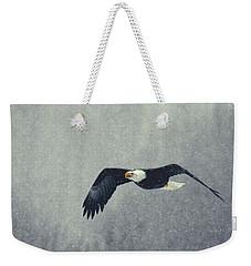 Snow Flight Weekender Tote Bag by Myrna Bradshaw
