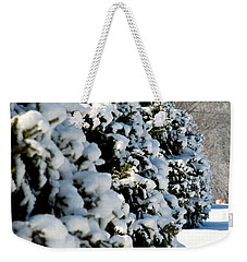 Snow In The Trees Weekender Tote Bag