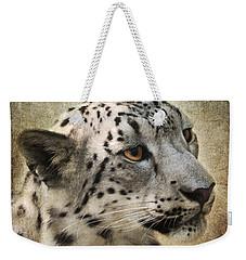 Snow Leopard Portrait Weekender Tote Bag