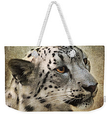 Snow Leopard Portrait Weekender Tote Bag