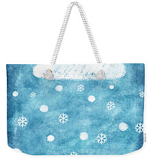 Snow Winter Weekender Tote Bag