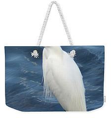 Snowy Egret 1 Weekender Tote Bag by Joe Faherty
