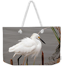 Snowy Egret Weekender Tote Bag by Kay Lovingood
