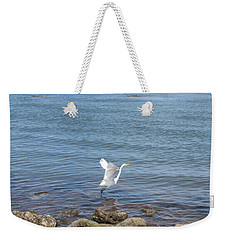 Weekender Tote Bag featuring the photograph Snowy Egret by Marilyn Wilson
