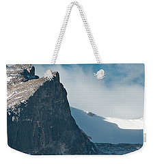 Weekender Tote Bag featuring the photograph Snowy Flatirons by Colleen Coccia