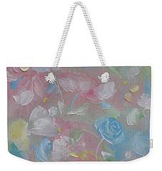 Weekender Tote Bag featuring the painting Softly Spoken by Judith Rhue