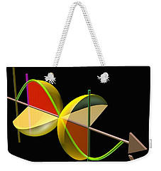 Weekender Tote Bag featuring the digital art Solid Of Revolution 5 by Russell Kightley