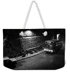 Weekender Tote Bag featuring the photograph Solitary Wait by Lynn Palmer