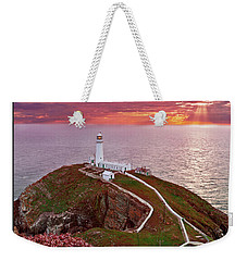 Weekender Tote Bag featuring the photograph South Stack Lighthouse by Beverly Cash
