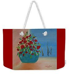 Weekender Tote Bag featuring the painting Southwestern 1 by Judith Rhue
