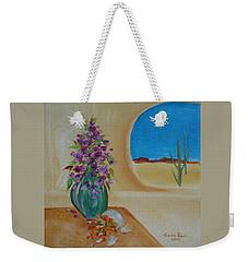 Southwestern 3 Weekender Tote Bag by Judith Rhue