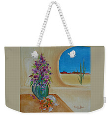 Weekender Tote Bag featuring the painting Southwestern 3 by Judith Rhue