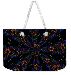 Space Flower Weekender Tote Bag by Alec Drake