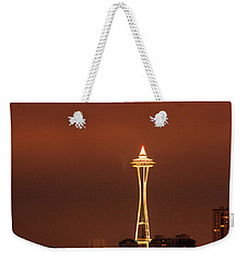 Space Needle Morning Weekender Tote Bag