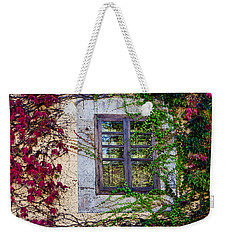 Weekender Tote Bag featuring the photograph Spanish Window by Don Schwartz