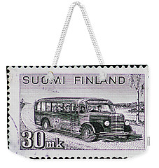 Weekender Tote Bag featuring the photograph Speedy Old Bus by Andy Prendy