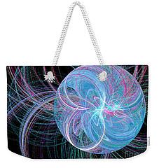 Weekender Tote Bag featuring the digital art Spherical Symphony by Kim Sy Ok
