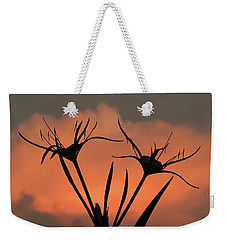 Spider Lilies At Sunset Weekender Tote Bag