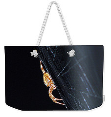 Weekender Tote Bag featuring the photograph Spider Solitaire by Chris Anderson