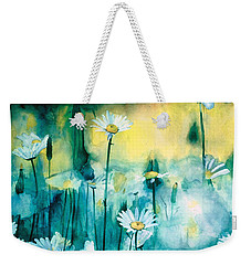 Splash Of Daisies Weekender Tote Bag by Cyndi Brewer