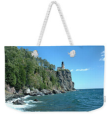 Weekender Tote Bag featuring the photograph Split Rock by Bonfire Photography