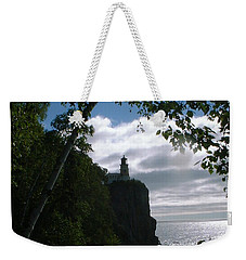 Weekender Tote Bag featuring the photograph Split Rock II by Bonfire Photography