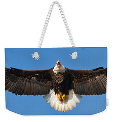 Weekender Tote Bag featuring the photograph Spread Eagle by Randall Branham